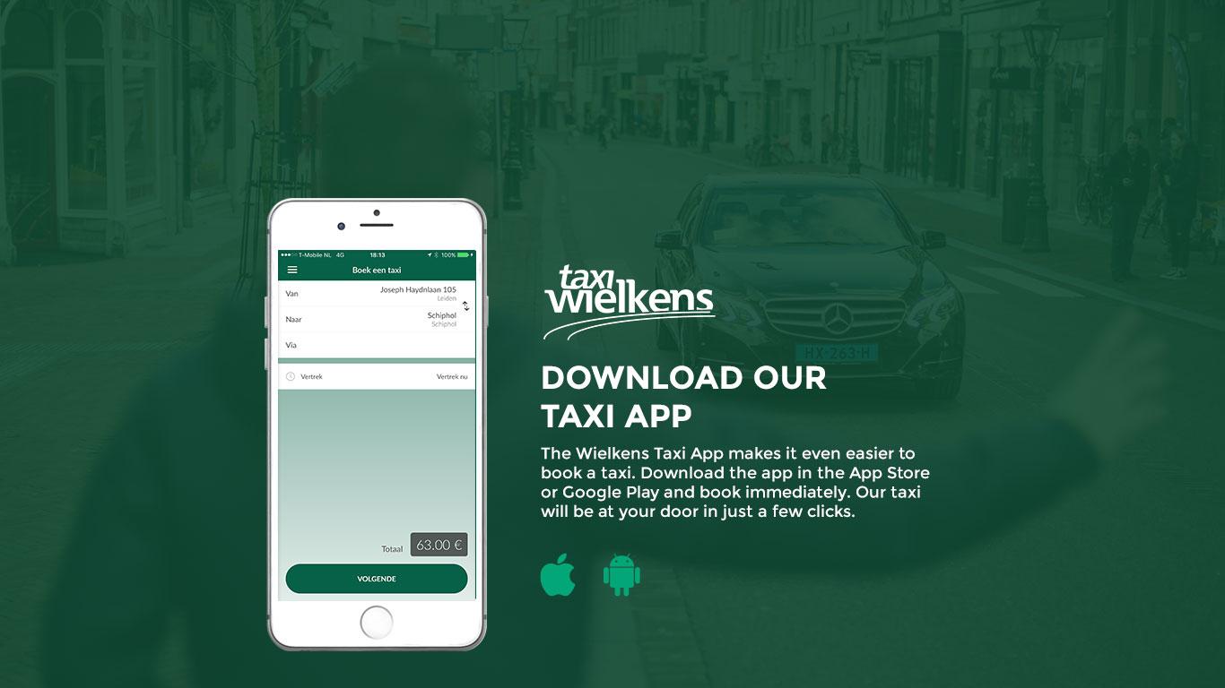 Download Our Taxi App Taxi Wielkens Leiden En Omgeving